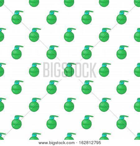 Cartoon illustration of grenade vector pattern for web