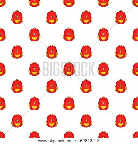 Cartoon illustration of school backpack vector pattern for web