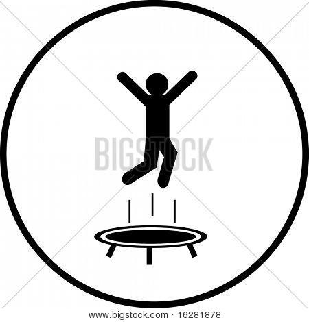 trampoline jumping symbol