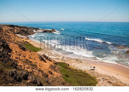 Ocean Coast on Southwest Alentejo and Vicentine Coast Natural Park, Portugal