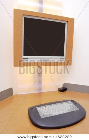 Computer Desk In A Hotel Room