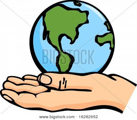 the world in the palm of a hand