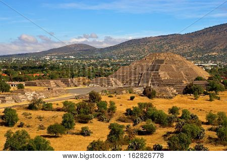 Pyramid Of The Moon And The Road Of Death In Teotihuacan