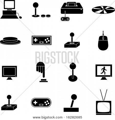 videogame gaming symbols set