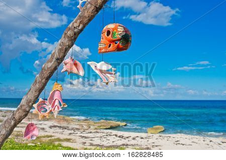 Tree With Talismans On The Caribbean Coast.