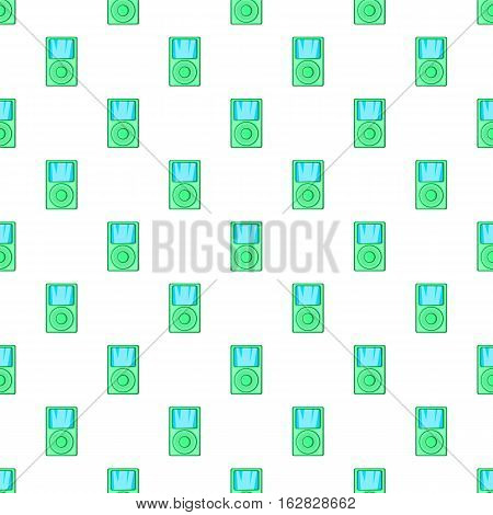 Music player pattern. Cartoon illustration of music player vector pattern for web