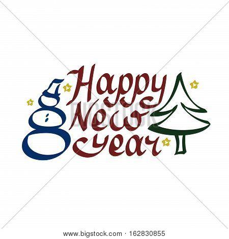 original greeting card Happy New Year, congratulation
