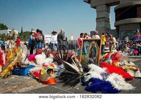 Day Of The Virgin Of Guadalupe In Mexico City