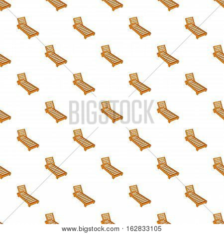 Cartoon illustration of wooden chaise lounge vector pattern for web