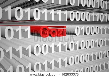 Gozi in the form of binary code, 3D illustration