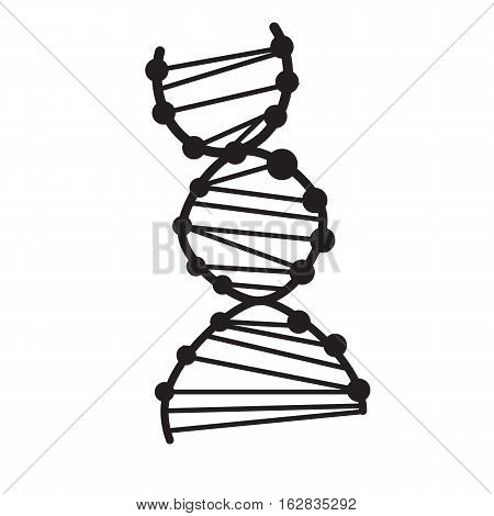 dna icon on white background. dna sign.
