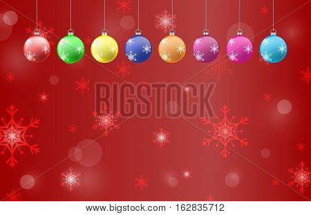 christmas and happy new year background illustration