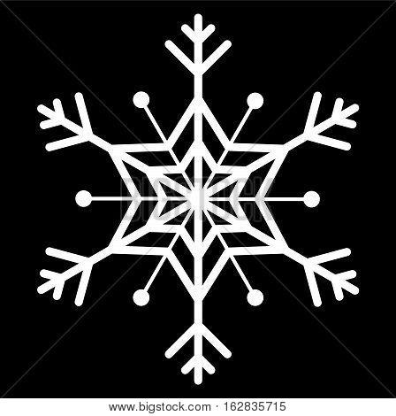 snowflake icon vector, illustration on black background