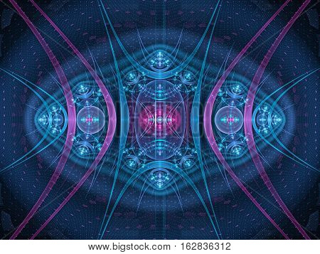Colorful new technology fractal artificial intelligence computer generated abstract background 3D render