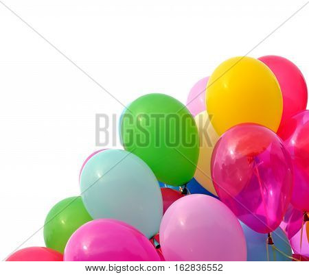multicolored balloons , isolated on white background