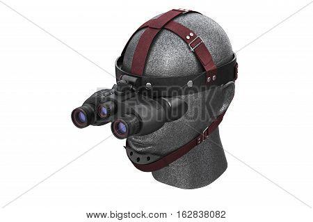 Night vision tactical battle advantages. 3D rendering