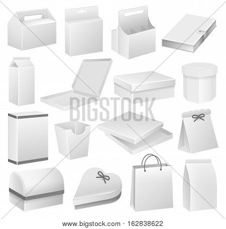 Vector Illustration of Packaging Boxes. Best for Business, Food and Drink, Shopping, Design Elements Concept.