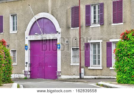 Poissy; France - october 26 2016 : the jail house