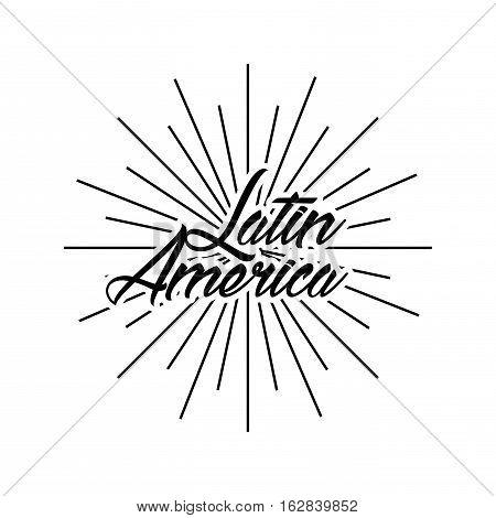latin america card icon over white background. vector illustration