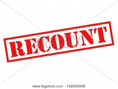 RECOUNT red Rubber Stamp over a white background.