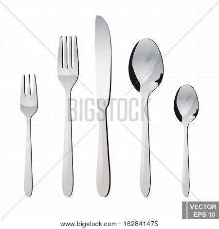 Cutlery. Spoon, Fork, Knife. Serving. Preparing For Dinner.