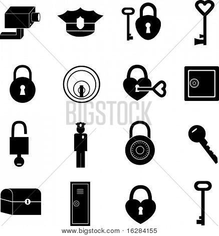 security and safety symbols set