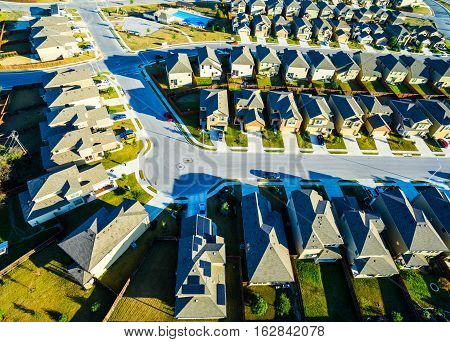 Nice Evening in Suburban Homes North of Austin near Round Rock , Texas as Texas expands more and more homes are built in Modern Neighborhood Communities