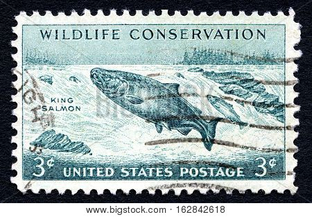UNITED STATES OF AMERICA - CIRCA 1956: A used postage stamp from the United States of America dedicated to Wildlife Conservation circa 1956.