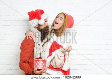 Young Christmas Couple
