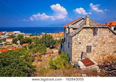 Old Stone Village Postira On Brac Island