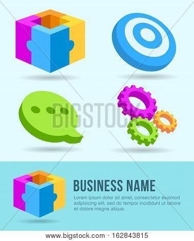 Vector Illustration of Business Banner Template and Icons. Best for Business, Creative Design, Marketing, Internet, Media concept.