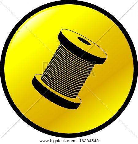 thread or wire spool button