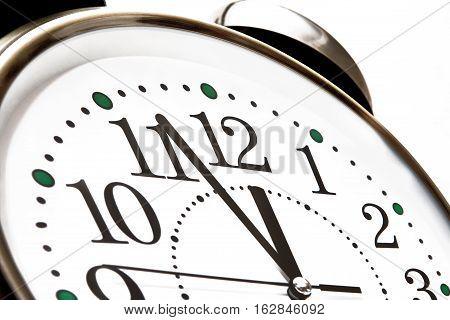On a big clock twelve hours soon