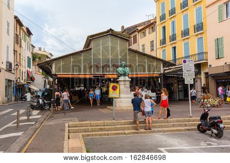 Roofed Market Hall In Antibes, France