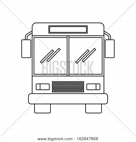 bus vehicle icon over white background. vector illustration