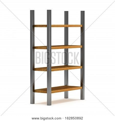 Storage stack. 3D render isolated on white. Platform or Stand Illustration. Template for Object Presentation.