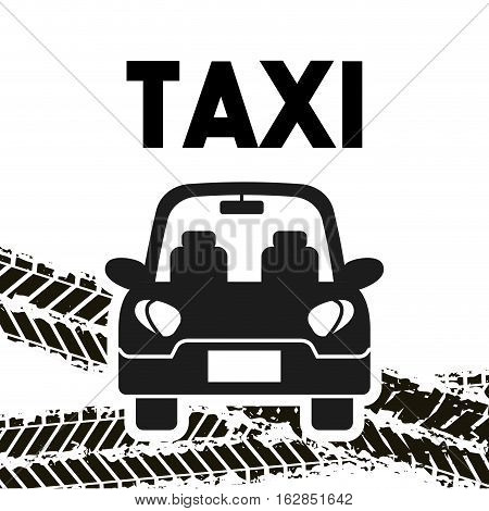 taxi car vehicle icon over white background. colorful design. vector illustration