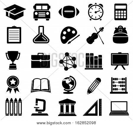 Vector Illustration of Education Icons. Best for School, College, Icon Set, Signs and Symbols, Design Element concept.