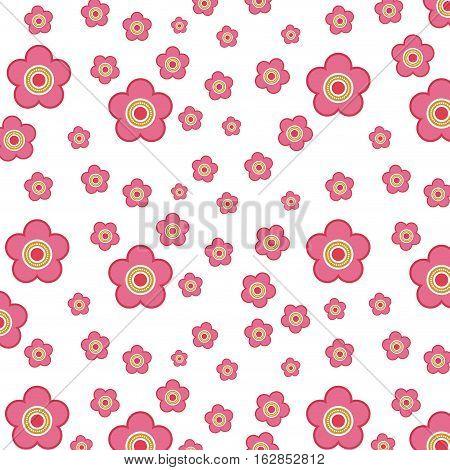 background og pink flowers. colorful design. vector illustration
