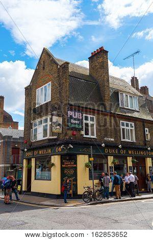 Old Pub In Shoreditch, London, Uk