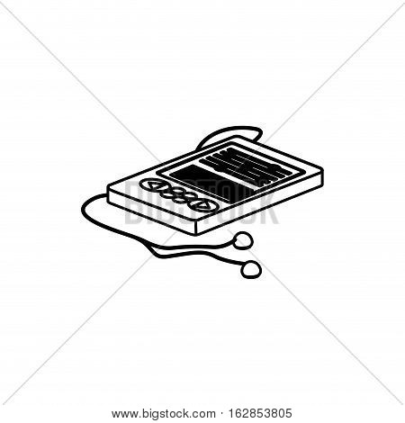 Mp3 icon. Device gadget technology and electronic theme. Isolated design. Vector illustration