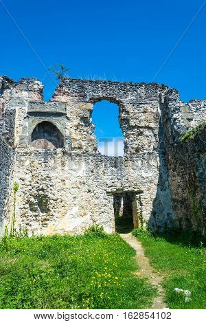 The Ruins Of The Ancient Princely Palace In The Village Of Lykhny, Abkhazia.