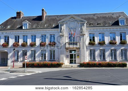 Gournay en Bray France - september 7 2016 : the city hall