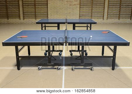 image of table tennis in the sports hall