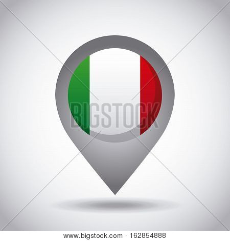 mexico country flag pin icon over white background. colorful design. vector illustration