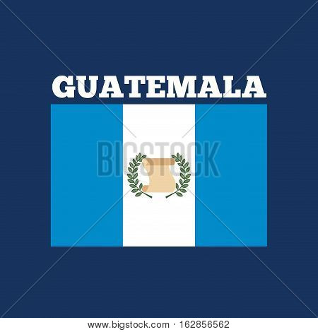 guatemala country flag icon over blue background. colorful design. vector illustration