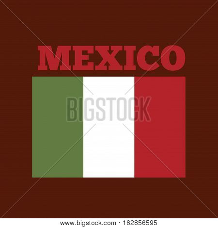 mexico country flag icon over red background. colorful design. vector illustration
