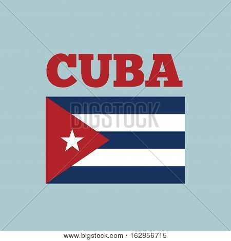 cuba country flag icon over blue background. colorful design. vector illustration