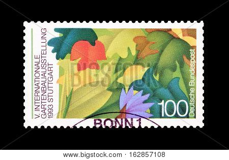 GERMANY - CIRCA 1993 : Cancelled postage stamp printed by Germany, that shows Flora.