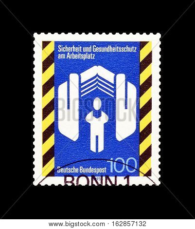 GERMANY - CIRCA 1993 : Cancelled postage stamp printed by Germany, that promotes Safety and Health.